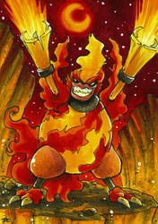 I am the God of Hellfire - ATC by Merinid-DE