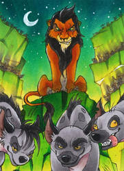 Scar - Lion King ATC by Merinid-DE