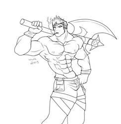 Smokin Darius by Blackwerewolfhero