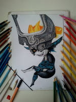 Midna drawing (Legend Of Zelda) Finished by Hrebo