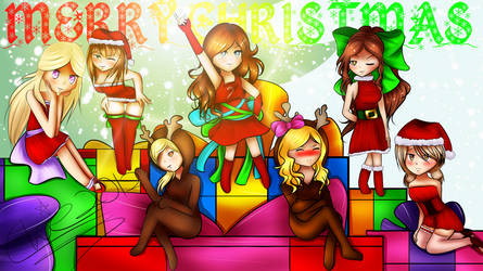 Gift: MERRY CHRISTMAS by Roxxia-chan