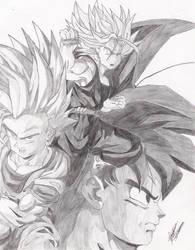 Trunks, Goku, Gohan by the14thgod