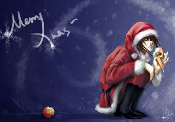 MerryXmas L an apple by Ginger-J