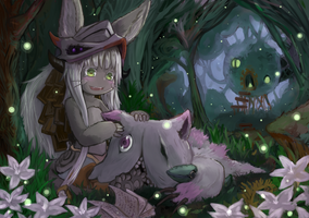 Nanachi and Mitty by LINNE888