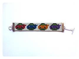 Teenage Mutant Ninja Turtles Beaded Bracelet by kitsunesama7