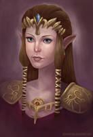 Zelda-portrait by AlineMendes