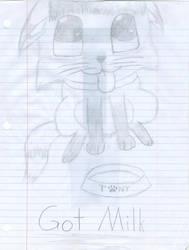 Got Milk Fox by 210teenlibrary
