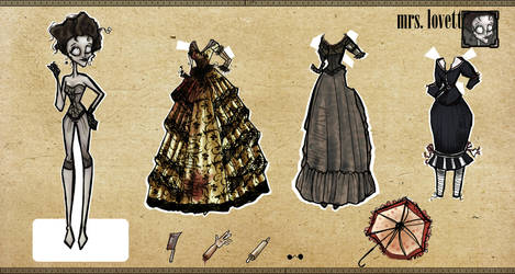 + Mrs. Lovett Paper Dolls + by esscoh