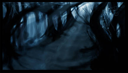 Spooky Forest background by esscoh