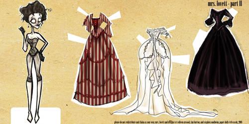 Mrs. Lovett Paper Dolls II by esscoh
