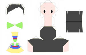 Mulan Papercraft Template by AnimeGang