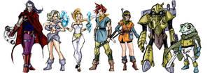 Chrono Trigger Fan Art all characters by randomality85