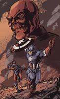 Captain America and Bucky by randomality85