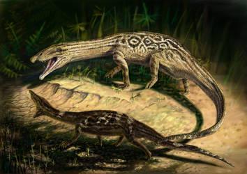 Two Jarasuchus by FinwalSMD