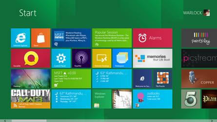 WIndows 8 Developer Preview Start Menu by sumankc