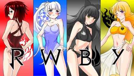 RWBY swimsuit LOGO(?!) by Y-enter