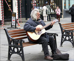 A Busker by aquifer