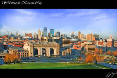 Kansas City Skyline by curtydc