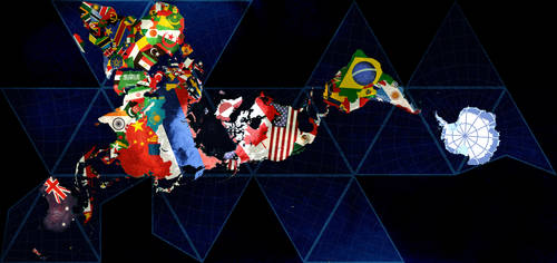 Dymaxion Flag Map by curtydc