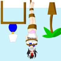 Seija Kijin upside rightside down by SuperTailsHero