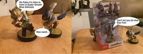 Just what I needed to see... Star Wolf Amiibo by SuperTailsHero