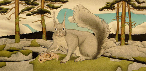 Lovecraft's Nosferatic Rock Squirrel by opiumtraum