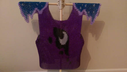 My Little Pony Luna Themed Chainmail Vest by TheGiantsnoll
