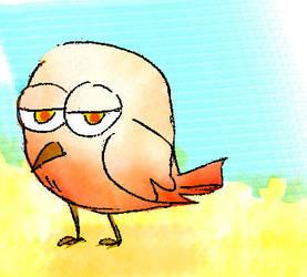 Random chibi bird by vampirekiki