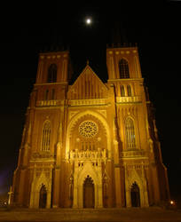 Cathedral at night 01 - Poland by DreamingRabit