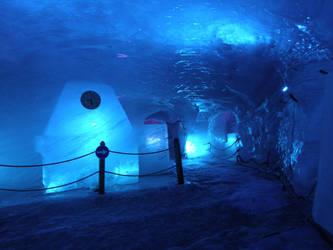 Chamonix Ice cave main chamber by DreamingRabit