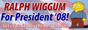 Ralph Wiggum for President by Kjasi