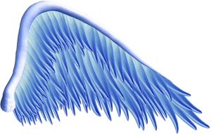 Blue Angel Wing PNG by Thy-Darkest-Hour
