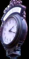 Antique Street Clock PNG by Thy-Darkest-Hour