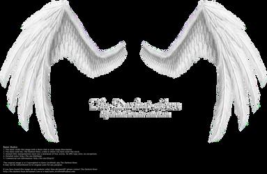 Fiction Wings - White by Thy-Darkest-Hour