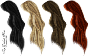 Hair PNG's 5 by Thy-Darkest-Hour