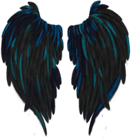 Blue Highlighted Wings by Thy-Darkest-Hour