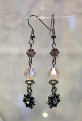 Crystal Drop Earrings - FOR SALE by Thy-Darkest-Hour