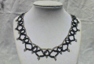 Pewter n' Silver Netted Necklace - FOR SALE by Thy-Darkest-Hour