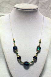 Green n' Gold Necklace - FOR SALE by Thy-Darkest-Hour