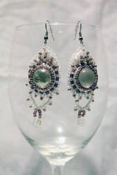 Purple n' Clear Earrings - FOR SALE by Thy-Darkest-Hour