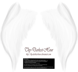 My Soul to Keep Wings - White (Free) by Thy-Darkest-Hour