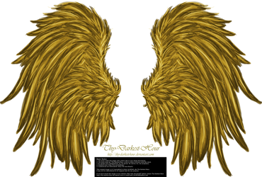 Frill and Fluff Wings - Golden by Thy-Darkest-Hour