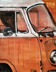 Rusty Orange Bus by kirkfinger