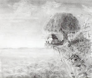 my caban in the wild (pencils version) by FabriceW