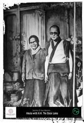 Dalai Lama with Amala by layaarts