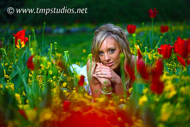 Morning Flower Fields Bride 3 by ThomasMcKownPhoto