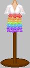 Rainbow dress by Gittiej