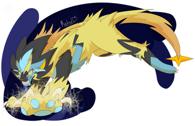 Zeraray (Luxray and Zeraora fusion) by FirestarandScourgeXD
