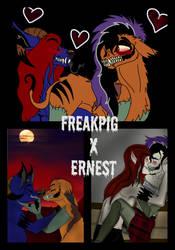 FreakPig(Me)ANDErnest(my lovely husband) by Freak-Pig666