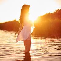 sunset girl [3] by sergeyspiric